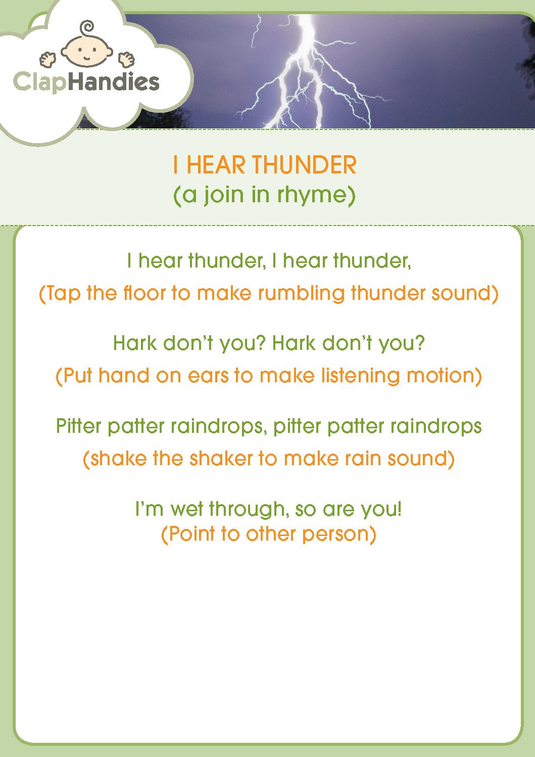 I Hear Thunder
