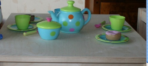 My first (water) tea party