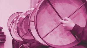 Drumming at Bodhran beats